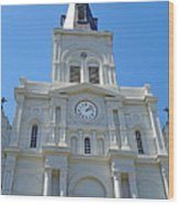 St. Louis Cathedral Study 1 Wood Print