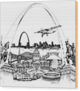 St. Louis Highlights Version 1 Wood Print
