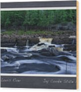 St Louis River Scrapbook Page 1 Wood Print