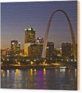 St Louis Skyline From Poplar Street Bridge Wood Print