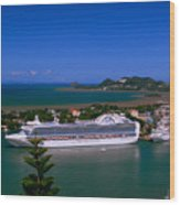St. Lucia Port Wood Print