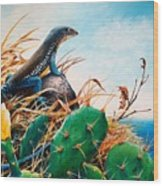St. Lucia Whiptail Wood Print