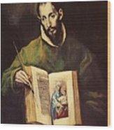 St Luke Wood Print