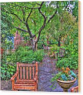 St. Luke Garden Sanctuary Wood Print