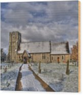 St Margarets Church Ridge Hertfordshire Wood Print