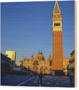 St Marks In Venice In Afternoon Sun Wood Print