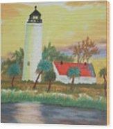 St Marks Lighthouse Fl 3 Wood Print