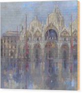 St Mark's -venice Wood Print by Peter Miller