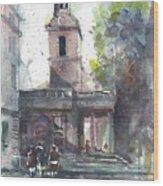 St Martins In The Field Adjacent Trafalgar Square London Wood Print