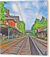 St. Martins Train Station Wood Print