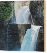 St Mary Falls Wood Print