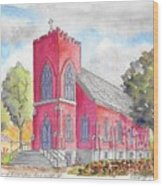 St. Mary's Catholic Church, Oneonta, Ny Wood Print