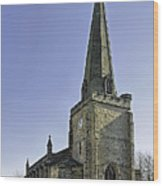St Mary's Church At Uttoxeter Wood Print