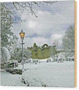 St Mary's Churchyard - Tutbury Wood Print