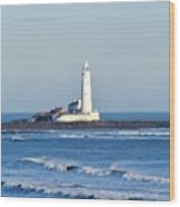 St Mary's Lighthouse Whitley Bay Wood Print