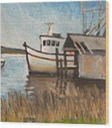St Mary's Shrimp Boat  Wood Print