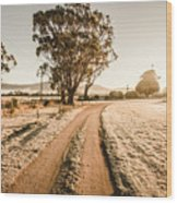 St Marys Winter Country Road Wood Print