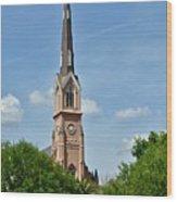 St. Matthew's German Evangelical Lutheran Church In Charleston Wood Print