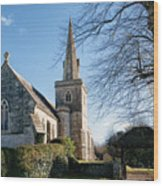 St Michael And All Angels Church -- Little Bredy Wood Print
