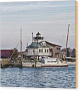 St Michael's Maryland Lighthouse Wood Print