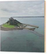 St Michaels Mount Aerial Wood Print