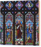 St. Michael's Parish Stained Glass Wood Print