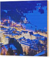 St. Moritz Wood Print