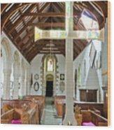St Mylor Altar Cross Wood Print