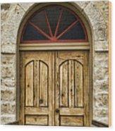 St Olafs Kirke Door Wood Print