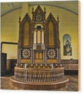 St Olafs Kirke Pulpit Wood Print