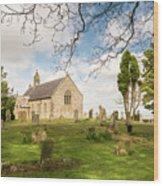 St Oswald's Church Graveyard Wood Print