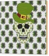 St Paddys Skull  Wood Print
