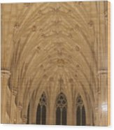 St. Patrick's Cathedral - Detail Of Main Altar's Ceiling Wood Print