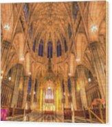 St Patrick's Cathedral Manhattan New York Wood Print