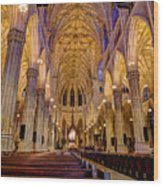 St Patrick's Cathedral Wood Print