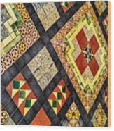 St. Patrick's Cathedral Mosaic Floors Wood Print
