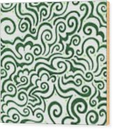 St Patrick's Day Abstract Wood Print