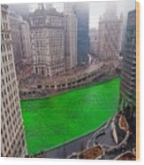 St Patrick's Day Chicago  Wood Print