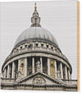 St Paul Cathedral Dome Wood Print