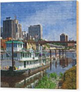 St Paul Tugboat Wood Print