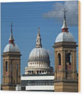 St Pauls An Alternate View Wood Print