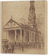 St. Paul's, Broadway, N.y. Wood Print