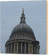 St. Paul's Cathedral Dome Wood Print
