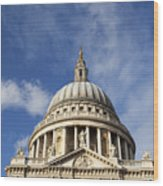 St Pauls Cathedral London England Uk Wood Print