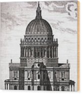 St. Pauls Drawn By Christopher Wren Wood Print