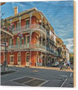 St Peter St New Orleans Wood Print