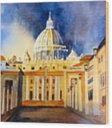 St. Peters Basilica Wood Print
