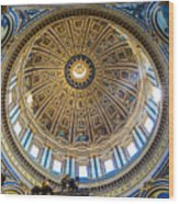 St. Peters Inside The Dome Wood Print