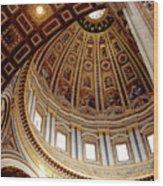 St Peters Looking Up Wood Print