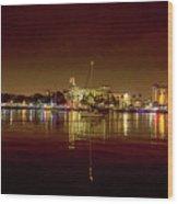 St Petersburg, Fl, Skyline At Night Wood Print